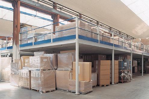 Soppalchi industriali in ferro soppalco magazzino for Piani di stoccaggio capannone